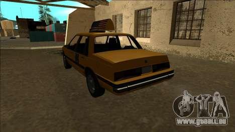 Willard Taxi für GTA San Andreas zurück linke Ansicht