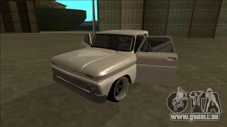 Chevrolet C10 Drift pour GTA San Andreas vue intérieure