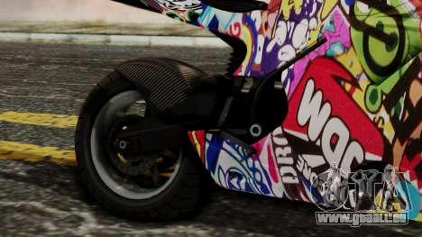 Bati Motorcycle JDM Edition pour GTA San Andreas vue arrière