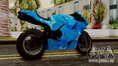 Bati VIP Star Motorcycle für GTA San Andreas linke Ansicht