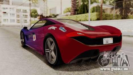 GTA 5 Progen T20 IVF für GTA San Andreas Unteransicht