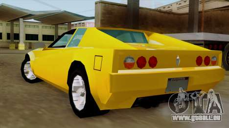 Cheetah from Vice City Stories IVF für GTA San Andreas linke Ansicht