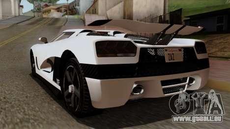 Overflod Entity AGR pour GTA San Andreas laissé vue