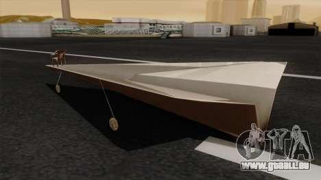Avion en papier pour GTA San Andreas laissé vue