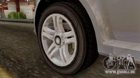 GTA 5 Declasse Asea pour GTA San Andreas sur la vue arrière gauche