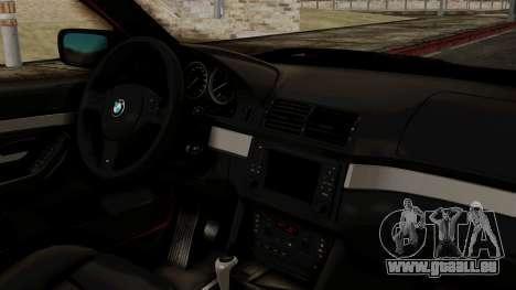 BMW 530D E39 2001 Mtech pour GTA San Andreas vue de droite