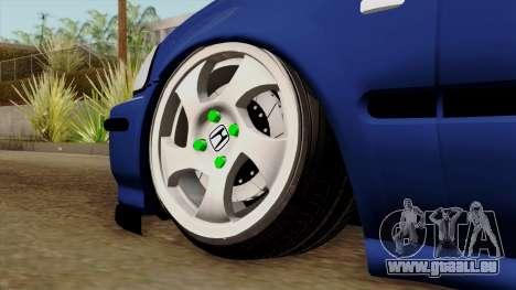 Honda Civic Limousine B. O. Bau für GTA San Andreas zurück linke Ansicht