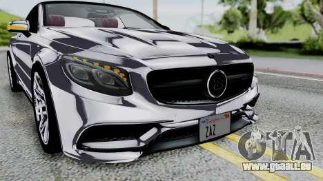Brabus 850 Chrome pour GTA San Andreas vue de côté