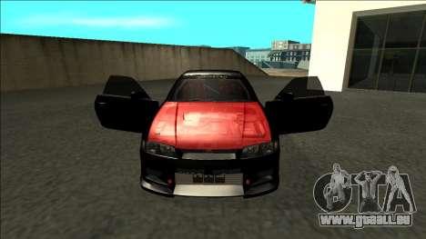 Nissan Skyline R33 Monster Energy pour GTA San Andreas vue intérieure