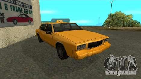 Tahoma Taxi für GTA San Andreas linke Ansicht