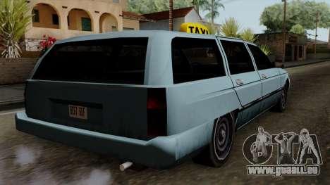 Taxi Solair pour GTA San Andreas laissé vue