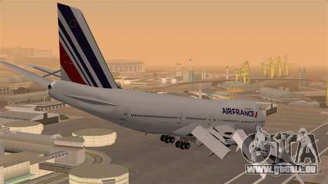 Boeing 747 Air France für GTA San Andreas linke Ansicht