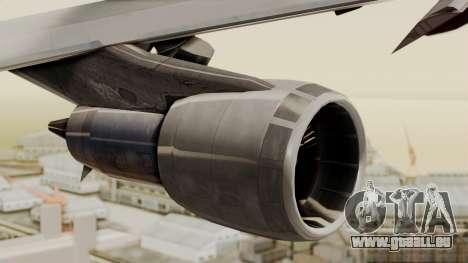 Boeing 747 Template für GTA San Andreas rechten Ansicht