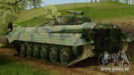 CoD 4 MW 2 BMP-2 Woodland pour GTA San Andreas laissé vue