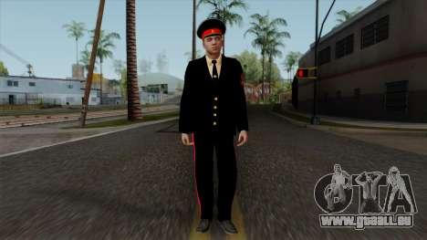 Vice-Sergent Kazan de l'École militaire Souvorov pour GTA San Andreas deuxième écran