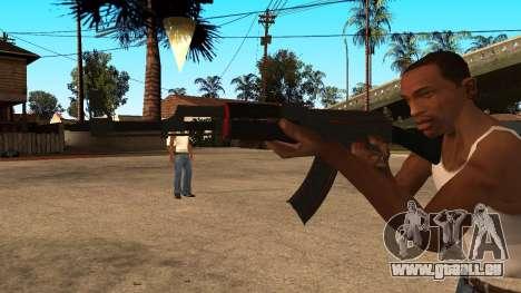 L'AK-47 de la Ligne Rouge de CS:GO pour GTA San Andreas deuxième écran