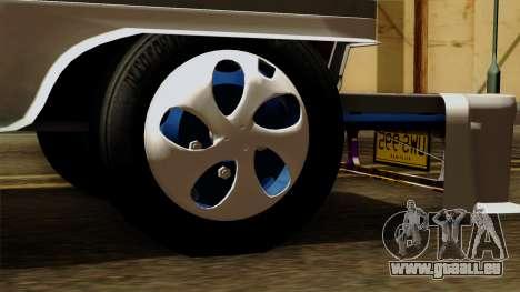 Auto Pormado - Gabshop Custom Jeepney pour GTA San Andreas sur la vue arrière gauche
