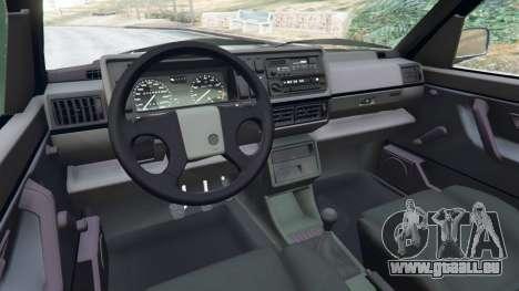 GTA 5 Volkswagen Golf Mk2 GTI droite vue latérale