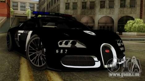 Bugatti Veyron 16.4 2013 Dubai Police pour GTA San Andreas