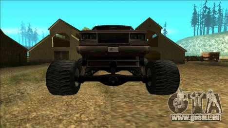 New Yosemite v2 Monster pour GTA San Andreas vue de droite