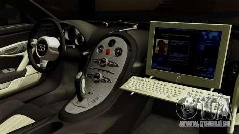 Bugatti Veyron 16.4 2013 Dubai Police für GTA San Andreas rechten Ansicht