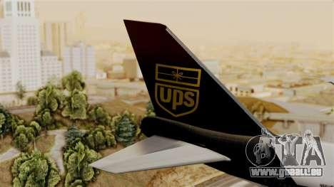 Boeing 747-100 UPS Old für GTA San Andreas zurück linke Ansicht