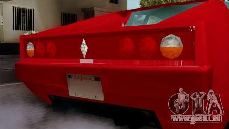 Cheetah from Vice City Stories pour GTA San Andreas vue de droite