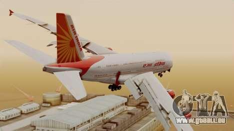 Airbus A380-861 Air India für GTA San Andreas linke Ansicht