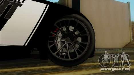 Bugatti Veyron 16.4 2013 Dubai Police pour GTA San Andreas sur la vue arrière gauche
