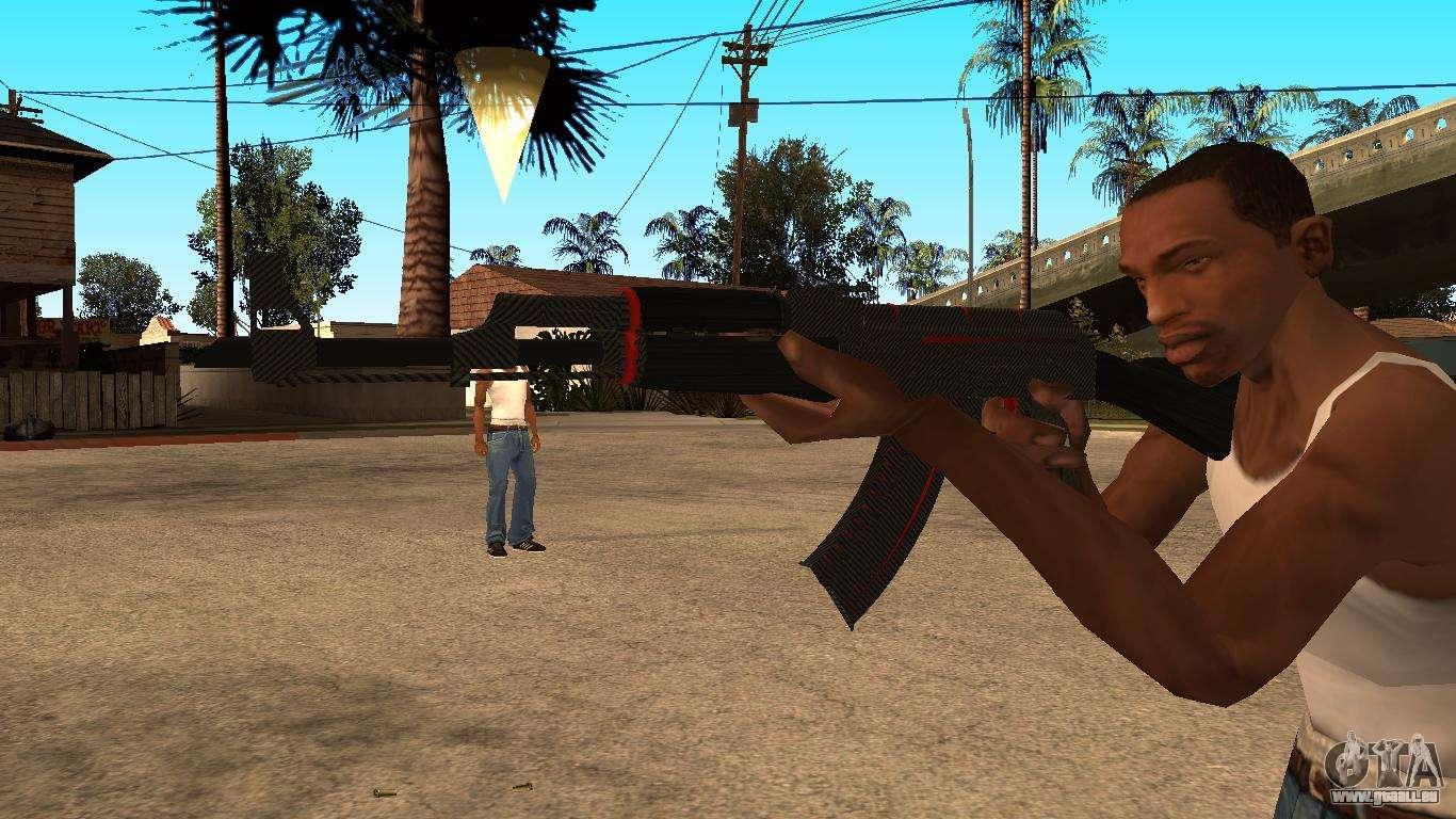 L Ak 47 De La Ligne Rouge De Cs Go Pour Gta San Andreas