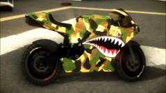 Bati Motorcycle Camo Shark Mouth Edition