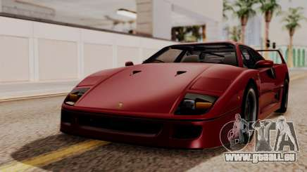 Ferrari F40 1987 without Up Lights HQLM für GTA San Andreas