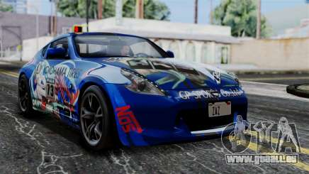 Nissan 370Z Tunable Miku Paintjob für GTA San Andreas