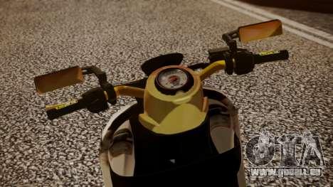 Honda Scoopy New Pink pour GTA San Andreas sur la vue arrière gauche