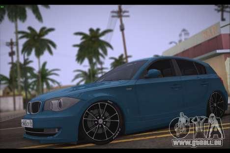 BMW 118i pour GTA San Andreas laissé vue