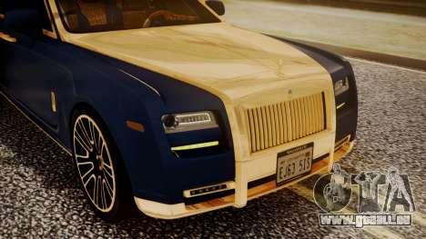 Rolls-Royce Ghost Mansory v2 für GTA San Andreas Innenansicht
