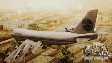 Boeing 747-100 Pan Am Clipper Maid of the Seas pour GTA San Andreas laissé vue
