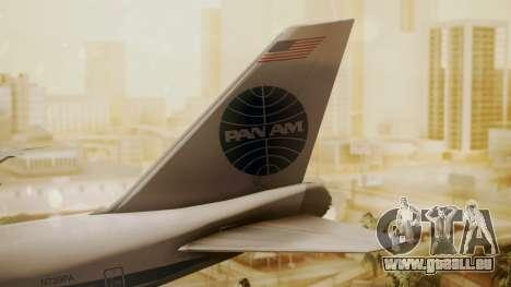 Boeing 747-100 Pan Am Clipper Maid of the Seas für GTA San Andreas zurück linke Ansicht