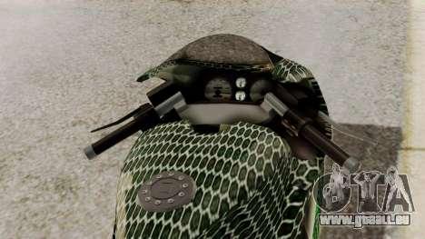 Bati Motorcycle Razer Gaming Edition pour GTA San Andreas vue arrière