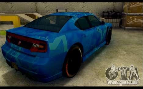 Bravado Buffalo Blue Star für GTA San Andreas zurück linke Ansicht