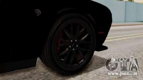 Dodge Challenger SRT Hellcat 2015 IVF pour GTA San Andreas sur la vue arrière gauche