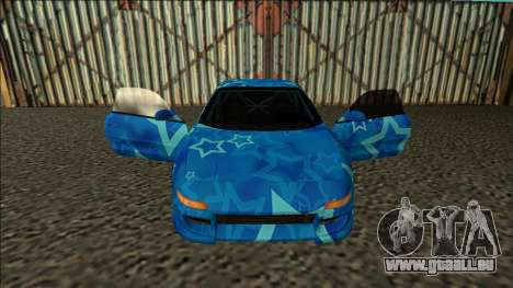 Toyota MR2 Drift Blue Star pour GTA San Andreas vue intérieure