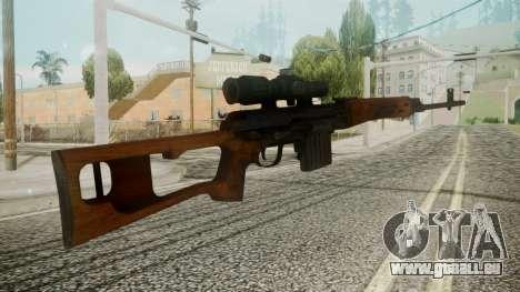 SVD Battlefield 3 pour GTA San Andreas deuxième écran