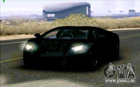 Lamborghini Aventador LP-700 Razer Gaming pour GTA San Andreas laissé vue