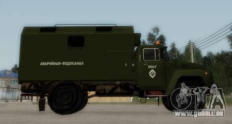 ZIL-130 Urgence à l'Eau pour GTA San Andreas laissé vue