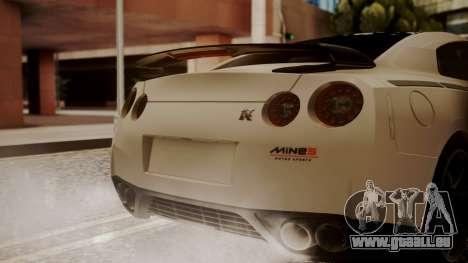 Nissan GT-R R35 2012 v2 für GTA San Andreas Rückansicht