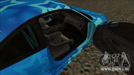 Toyota MR2 Drift Blue Star für GTA San Andreas zurück linke Ansicht