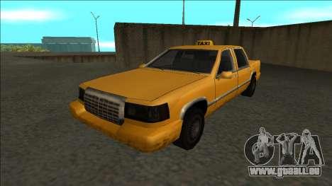 Stretch Sedan Taxi pour GTA San Andreas sur la vue arrière gauche