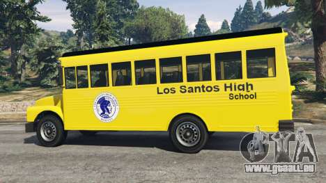 GTA 5 Classique autobus scolaire arrière droit vue de côté