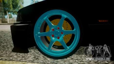 BMW M3 E36 Happy Drift Friends pour GTA San Andreas sur la vue arrière gauche